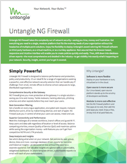 Untangle NG Firewall brochure